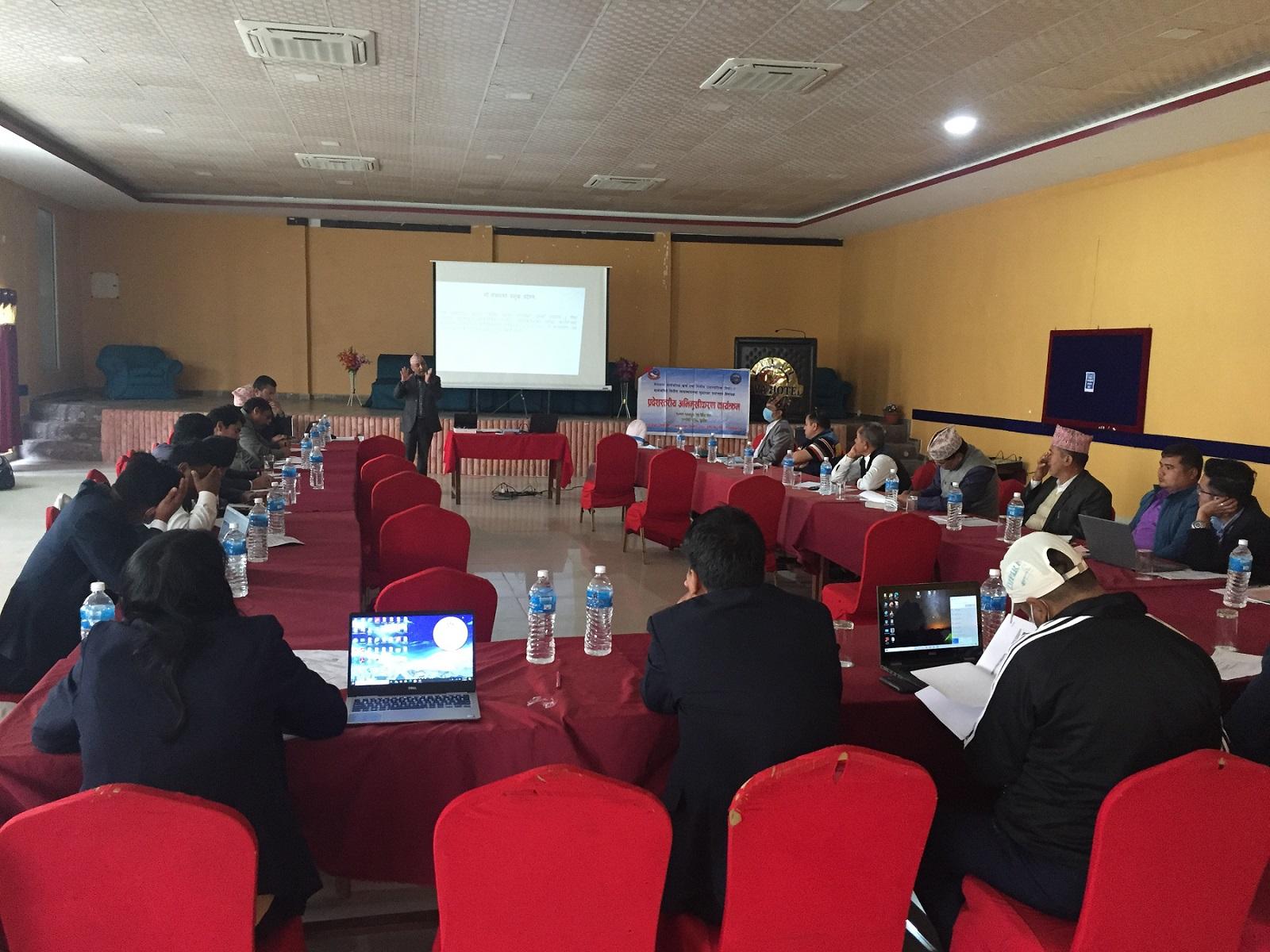 Province Level Orientation Programme, Karnali surkhet